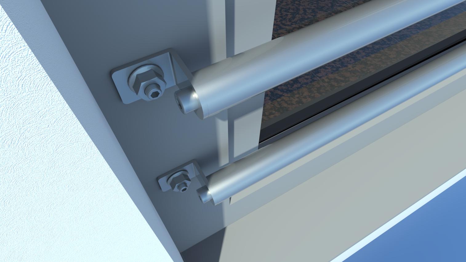 absturzsicherung aus edelstahl stahl und aluminium rohrmax. Black Bedroom Furniture Sets. Home Design Ideas