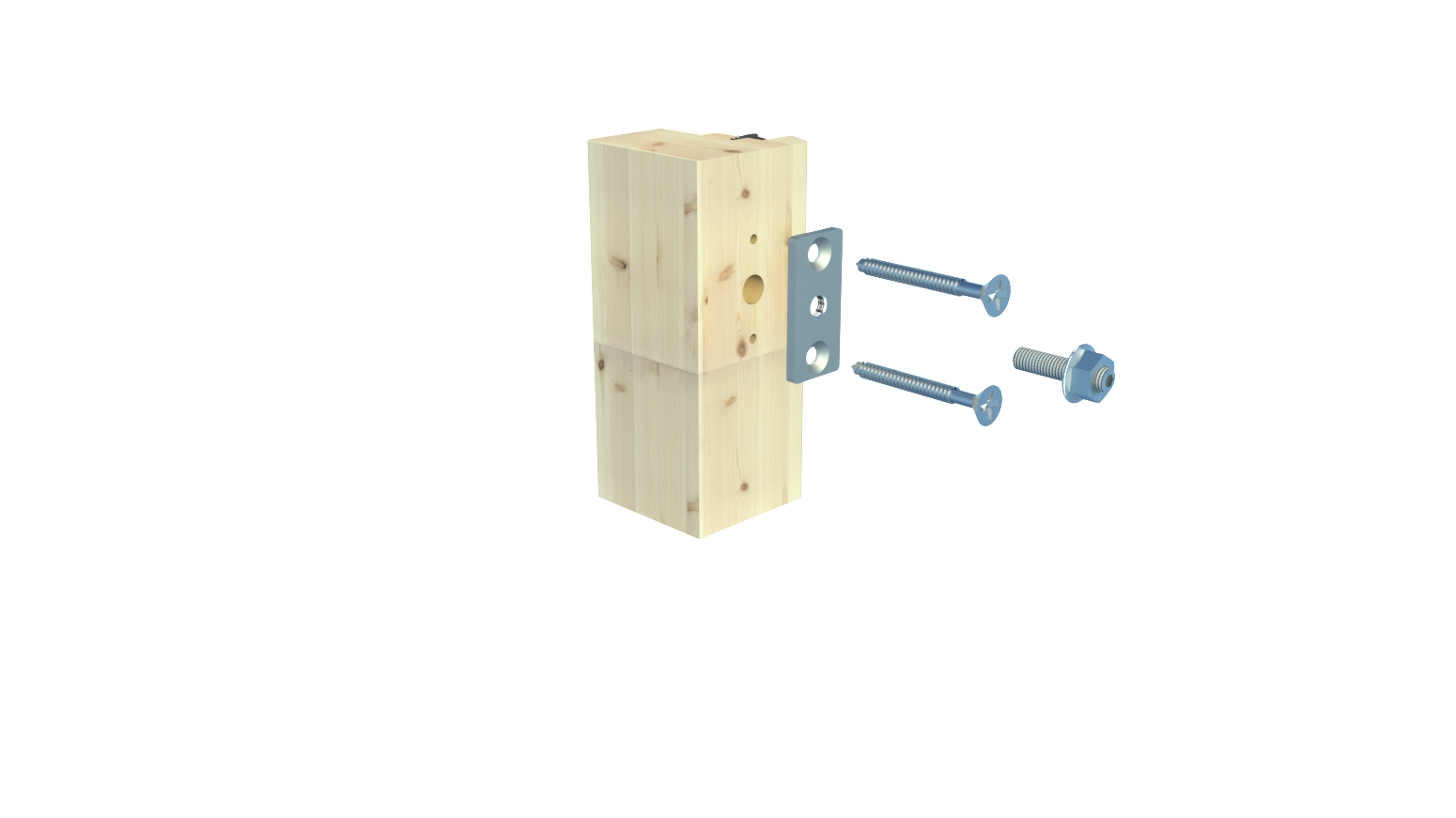 Bekannte Befestigung für Geländer für Holz/HolzAlu BS400/401 DO31