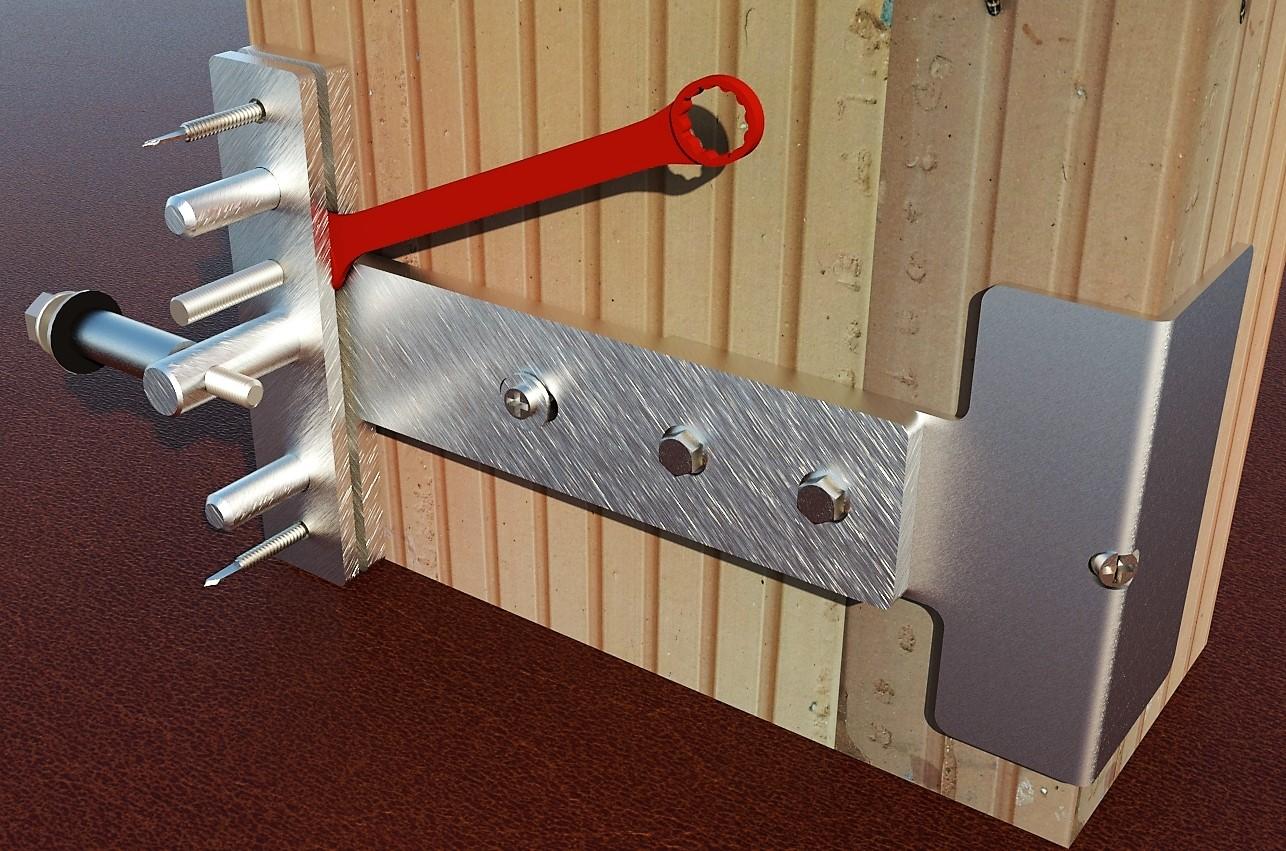 Top Befestigung für Geländer mit Lastabtragung BS700/BS600 CX65